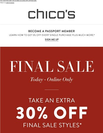 Final Sale Is An Extra 30% Off (Today Only)