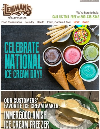 Today is National Ice Cream Day! - See Our Customers' Favorites