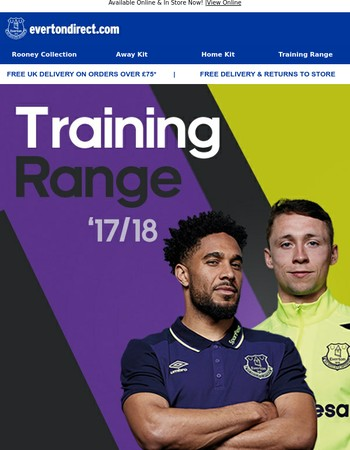 Train To Shine In The New Everton Training Collection