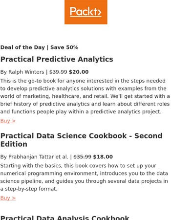 Use R and Python to do more with data | 50% off Data Science eBooks