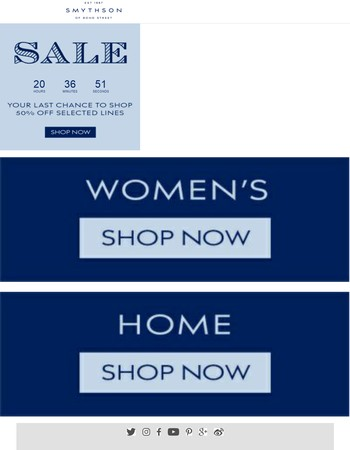 Your last chance to shop the sale