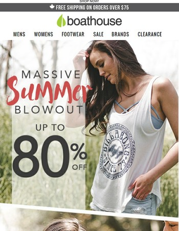 HURRY! Stock Up on Women's Shirts, Footwear & More, NOW up to 80% OFF!