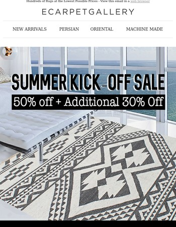 Can't Take The Heat? How About This Sale? All Rugs 50% Off + Supplementary 30%