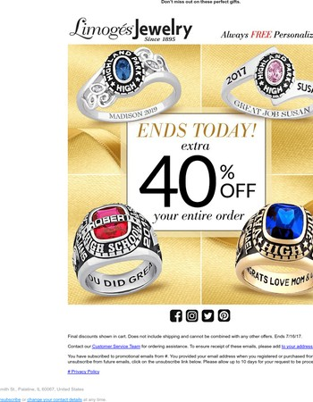 Tick Tock: 40% Off Sale Ends Tonight!