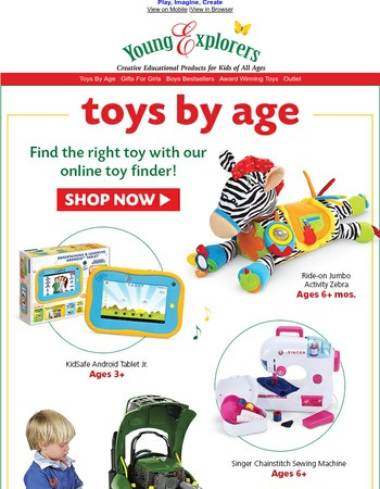 Fun. Happy. Smiling. Shop Toys/Games By Age!