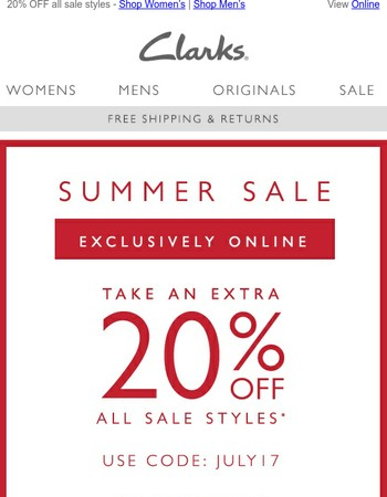 Extra 20% off sale - shop by size