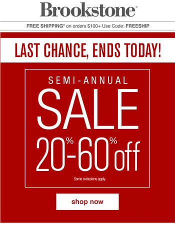 New Markdowns + Semi-Annual Sale Ends Today!