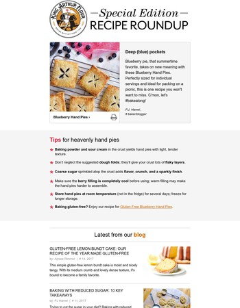 Sunday recipe roundup: Blueberry Hand Pies Bakealong