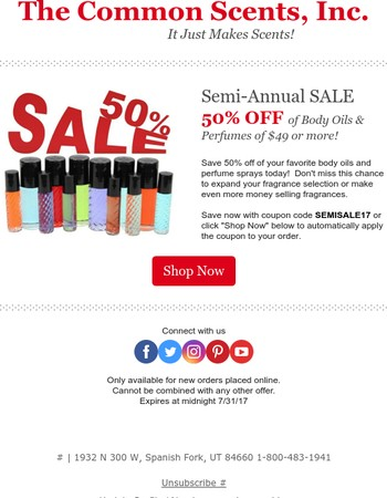 Semi-Annual SALE - 50% OFF