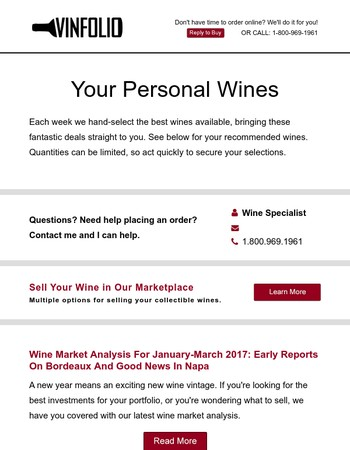 Your Personal Weekend Wines (Sunday)