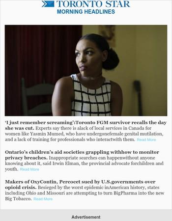 Toronto FGM survivor reflects, Children's Aid grapples privacy breaches