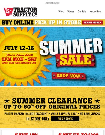 Last call to catch the biggest savings of the summer!