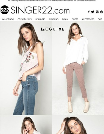 New Week, New Look: Check Out The Latest From McGuire