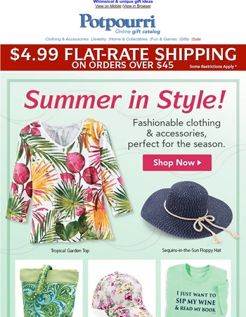 Perfect for Summer ~ Fashion Clothing, Accessories & So Much More!