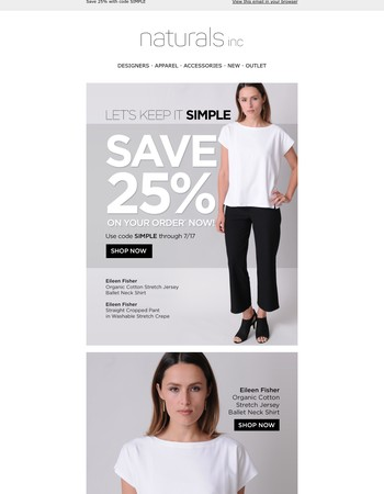 Keep It Simple In New Eileen Fisher & Save 25%
