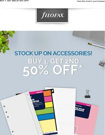 Last chance - Stock up on Accessories!