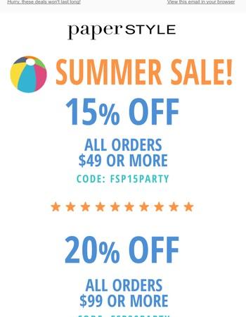 FLASH SALE - Choose Your Savings!