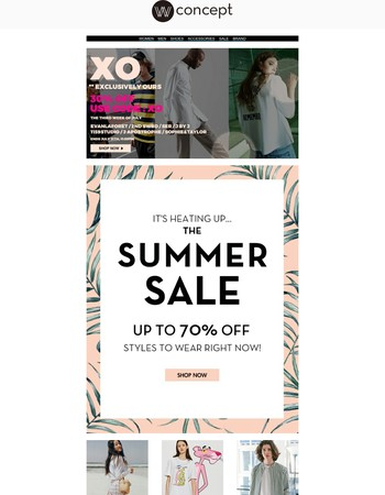 Summer SALE is heating  We've just added more to our sale + 30% OFF ExclusivelyOurs