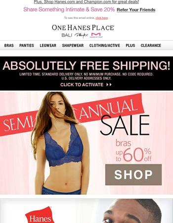Shop Semi-Annual Sale & Ship FREE Today!