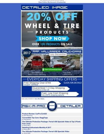 Save 20% On Wheel & Tire Products!