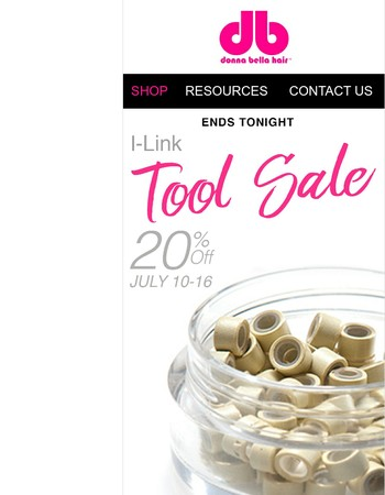 Sale ends tonight! 20% off all I-Link tools! Ends July 16