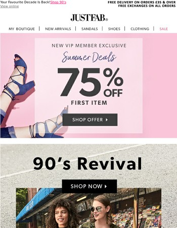 Lets shop the 90's! 75% OFF, Mary!