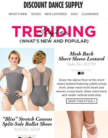 Trending now! Don't wear last year's dancewear!
