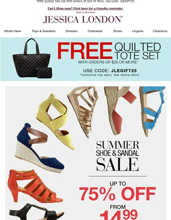 Summer Shoe STEALSUp To 75% Off. Starting@14.99