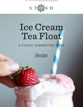 It's National Ice Cream Day! Try an ice cream tea float