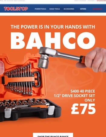 The Latest Offers from Bahco