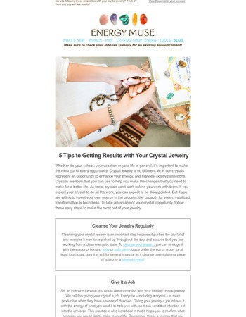 5 Tips to Getting Results with Your Crystal Jewelry✨
