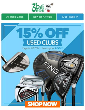 Shop Used Clubs for Big Savings