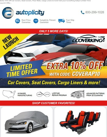 This is Crazy! FLAT 10% Off CoverKing