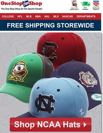 College Gear Ships Free, Same Day!