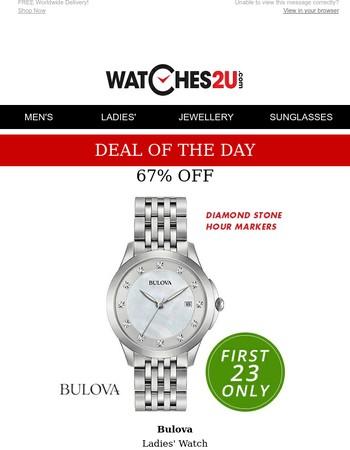 Enchanting Bulova watch - 67% off