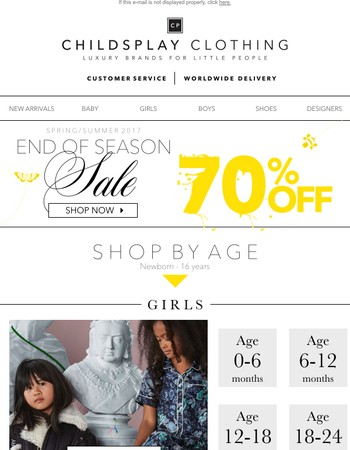 Shop The 70% Sale By Age