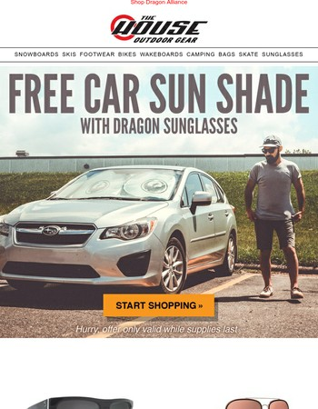 Get A FREE Sun Shade With All Dragon Sunglasses