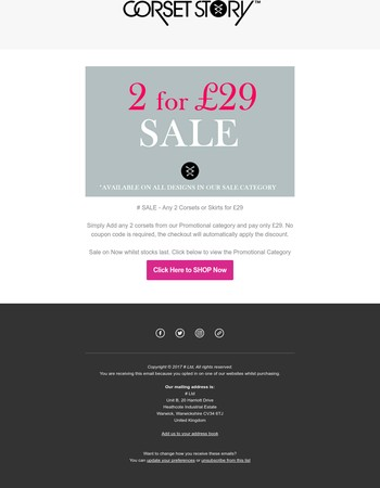 2 for £29 SALE - More Designs Added