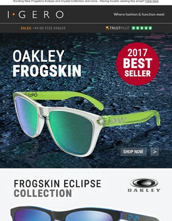 Our Top Sellers: Oakley Frogskin Sunglasses - Huge selection of this iconic style available now