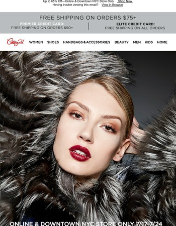 THE ULTIMATE FUR EVENT Starts Tomorrow: Yves Salomon + More