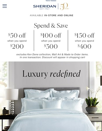 Luxury redefined | Spend & Save starts now!