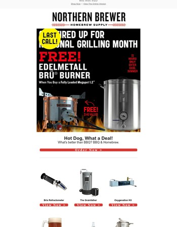 Last Call! - Free Edelmetall Brü® Burner - Offer Ends at Midnight.