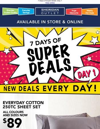 ✨ 7 Days of Super Deals ✨