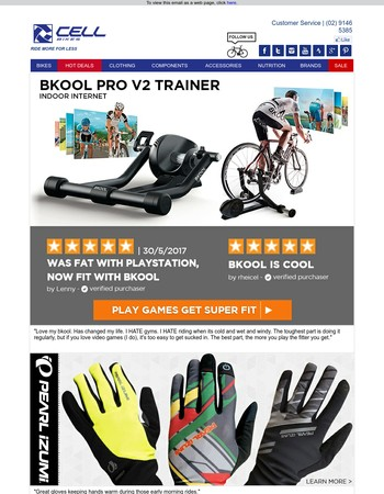 Get FIT @home  | NO RAIN. NO WIND. NO COLD. Pearl Izumi gloves you need, Look inside.