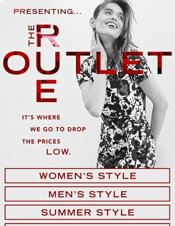 Get out. The Rue Outlet is back.