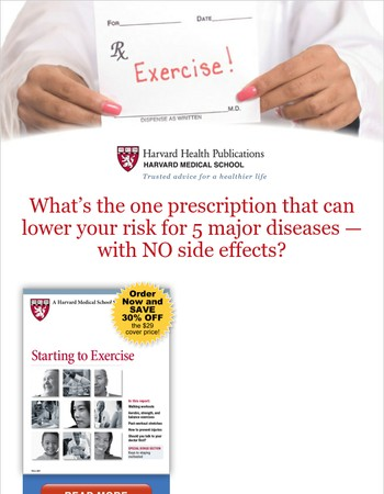 Exercise can do more for your health than medications