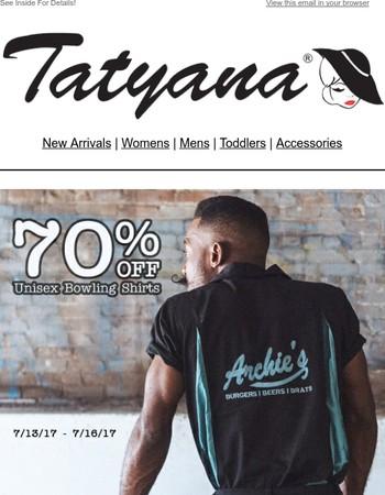 70% Off Bowling Shirts!