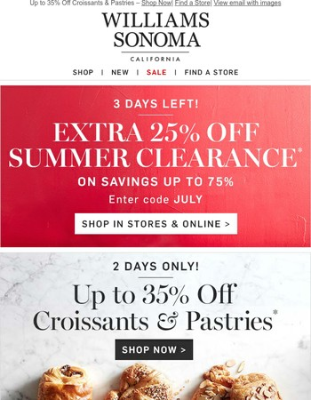 Up to 35% Off Croissants & Pastries – 2 Days Only!