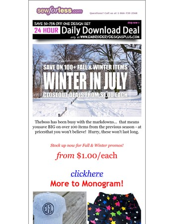 Winter in July! Over 100+ Fall & Winter Price Drops