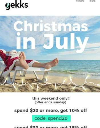 ONLY A FEW HOURS LEFT FOR CHRISTMAS IN JULY!